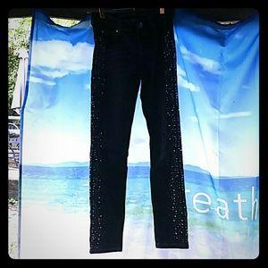 Justice Embellished blue jeans